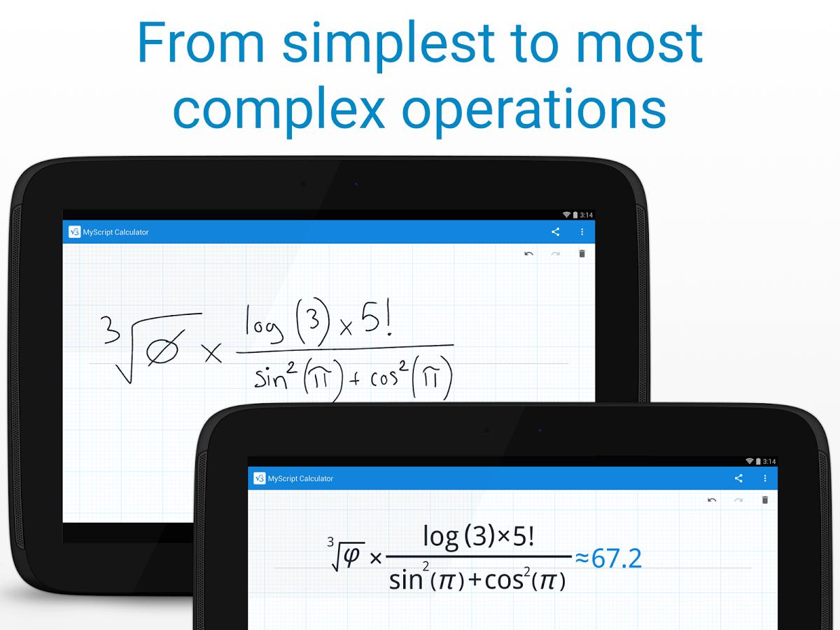 MyScript Calculator: escribe expresiones matemáticas y deja que tu Android las resuelva