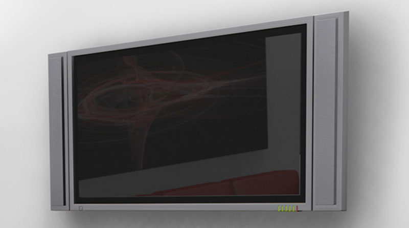 Lexsor flat screen tv with detacable speakers