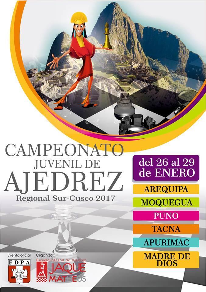 CAMPEONATO JUVENIL REGIONAL SUR CUSCO  Del 26 al 29 de Enero de 2017
