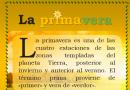 Actividad de Word Poster día de la Primavera, Assets e Indicaciones