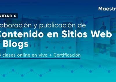 Elaboración y creación de contenido para sitios web y blogs